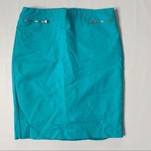 Van Heusen aqua pencil skirt